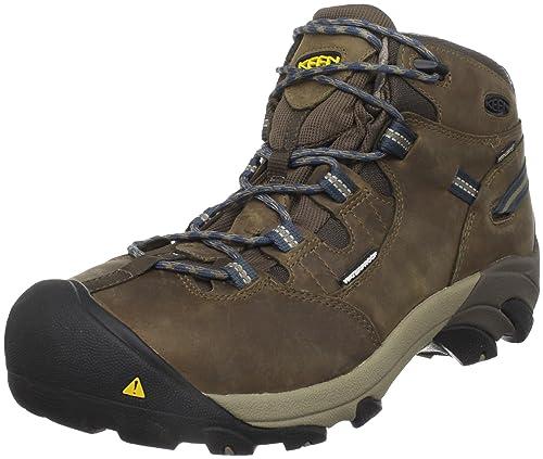 KEEN Utility Men's Detroit Mid Steel Toe Work Boot,Slate Black,13 D US