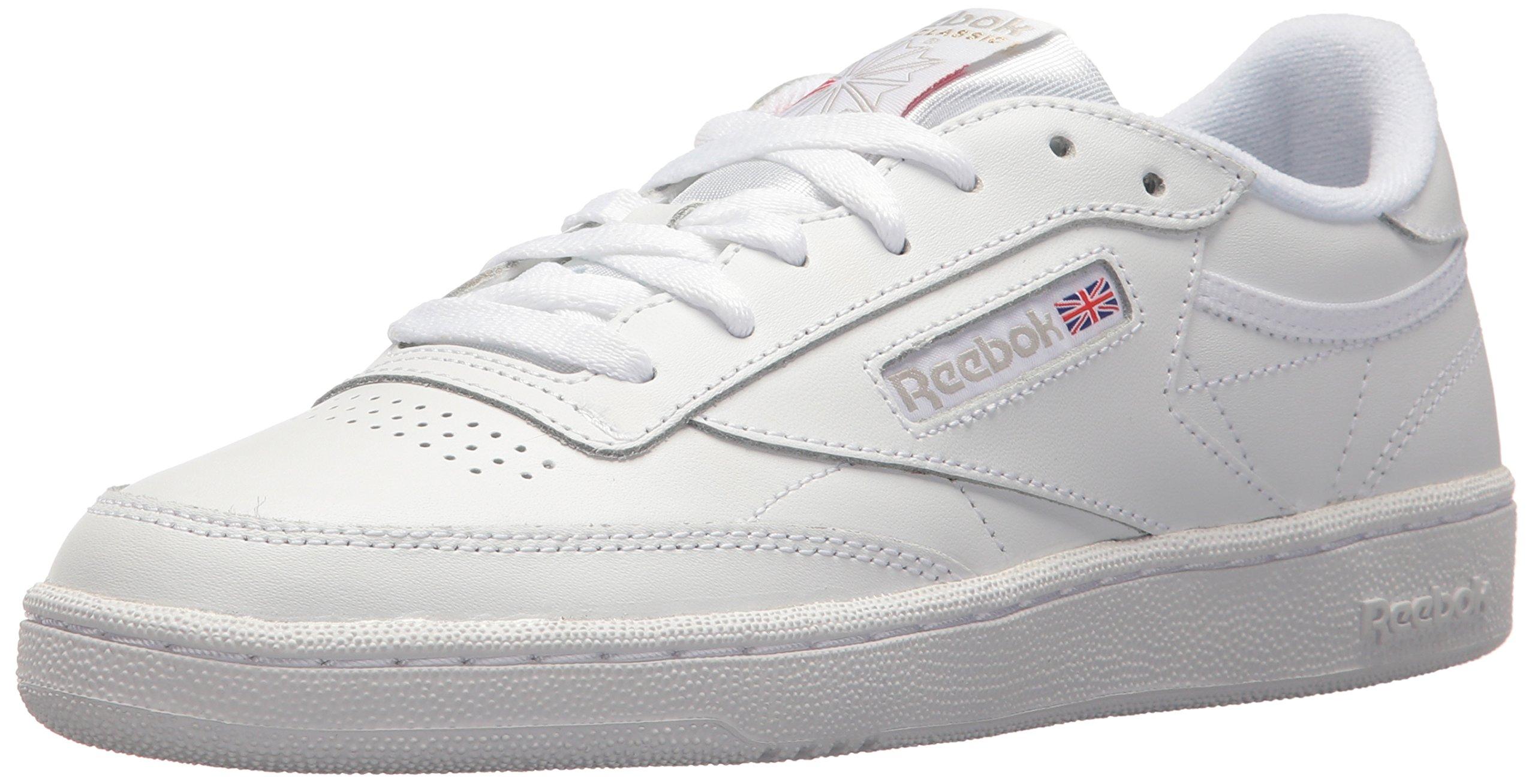 Reebok Women's Club C 85 Walking Shoe, White/Light Grey, 7 M US