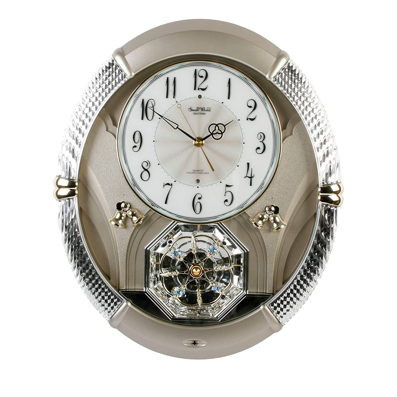 Enchanting Rhythm Musical Magic Motion Small World Wall Clock With Swarovski Elements Amazoncouk Kitchen Home