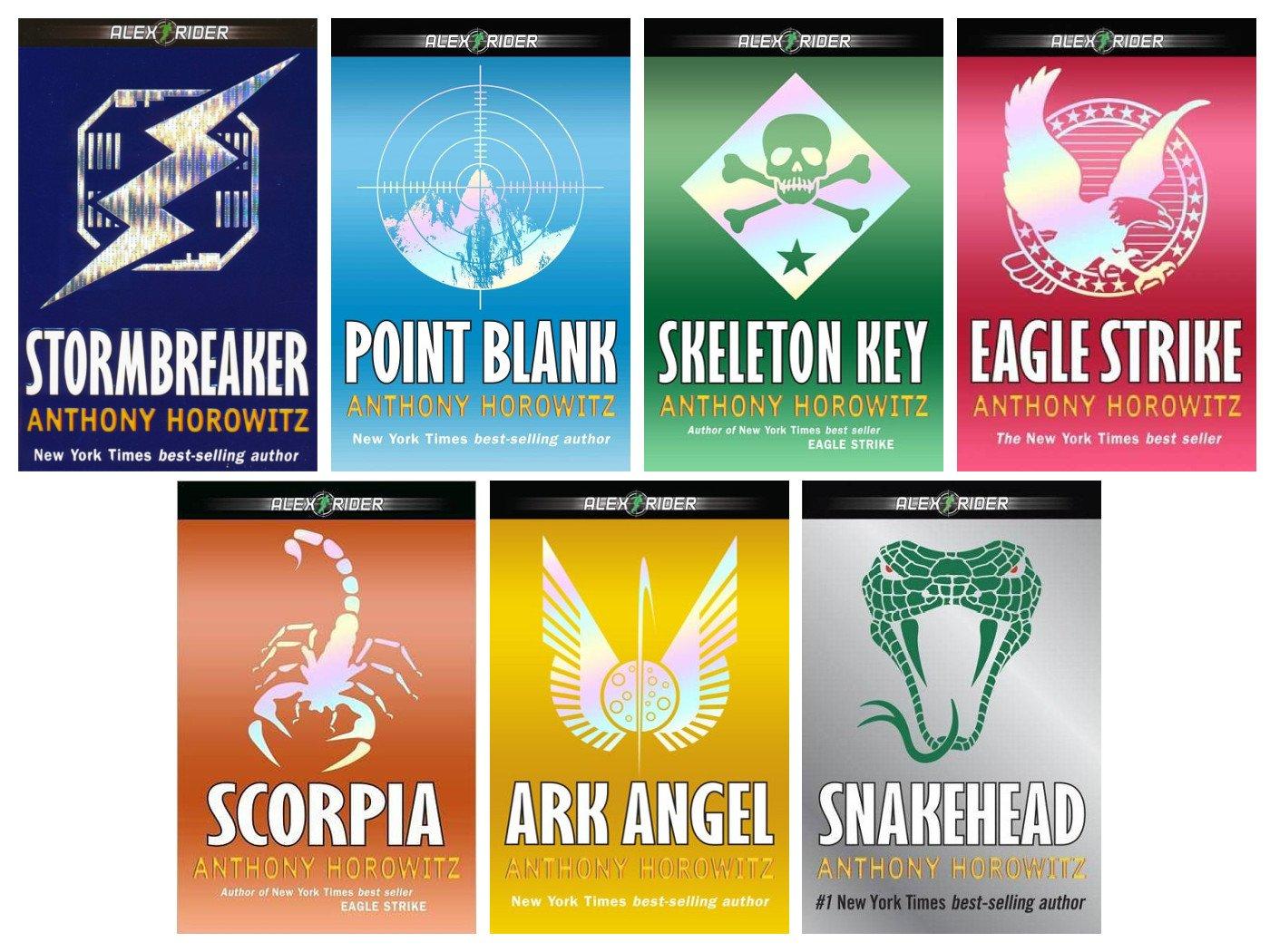 Alex Rider 7 Book Set Stormbreaker Point Blank Skeleton Key