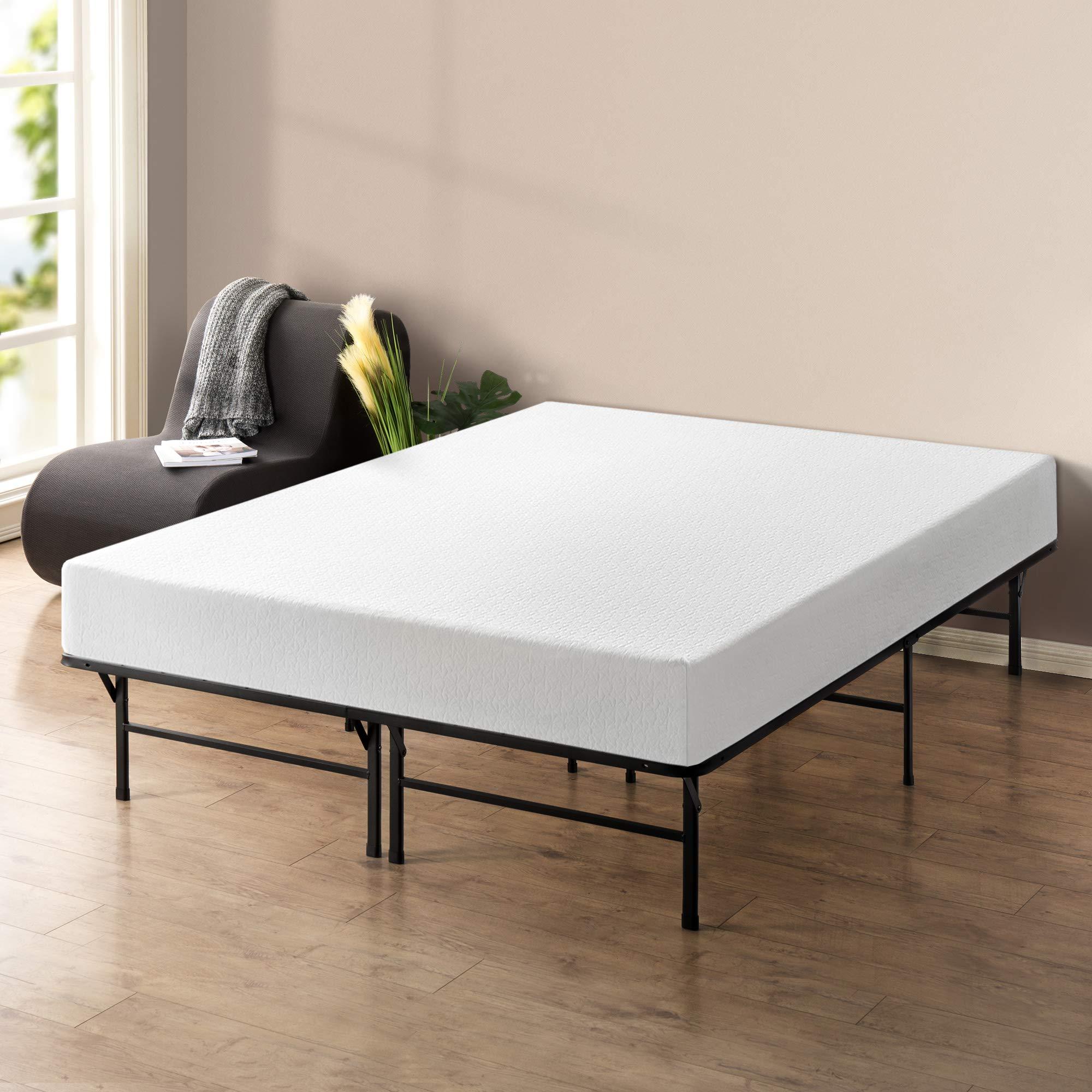 Best Price Mattress 10'' Memory Foam Mattress and 14'' Premium Steel Bed Frame/Foundation Set, Queen