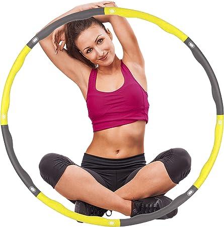 OZOY Hula Hoop Cerceau adulte 1,2 kg avec mousse pour fitness avec mini m/ètre ruban