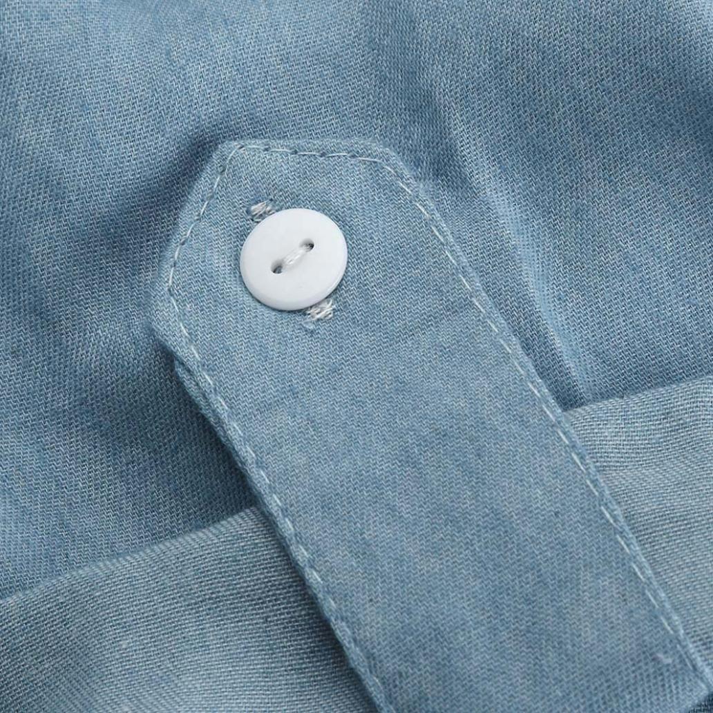9e579ddeb35c Xinan Damen Jeans Kleid Hemdkleid Umlegekragen Blusekleid Solid Sommerkleid  Kurzarm Mädchen Kleider Frauen Kleid Minikleid Kleidung