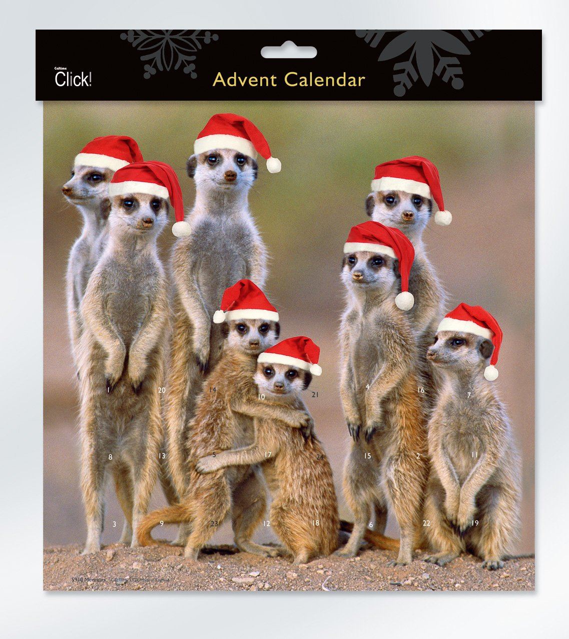 Meerkats Advent Calendar Caltime Limited S910