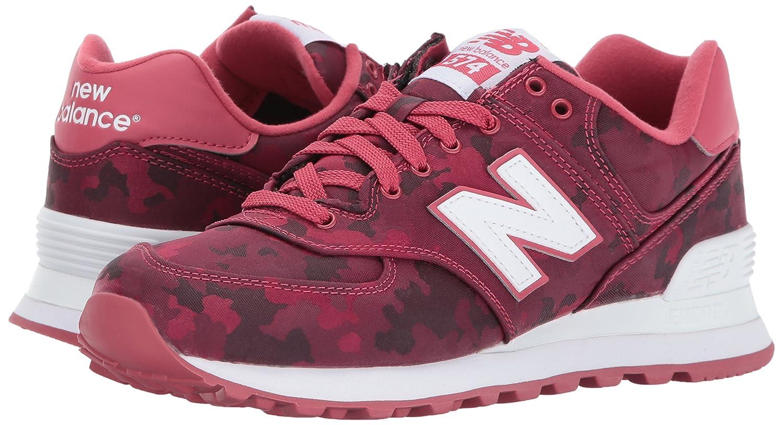 New Balance Women's 574 Camo Pack Lifestyle Fashion Sneaker B01LZYFV68 8.5 B(M) US|Radish/White