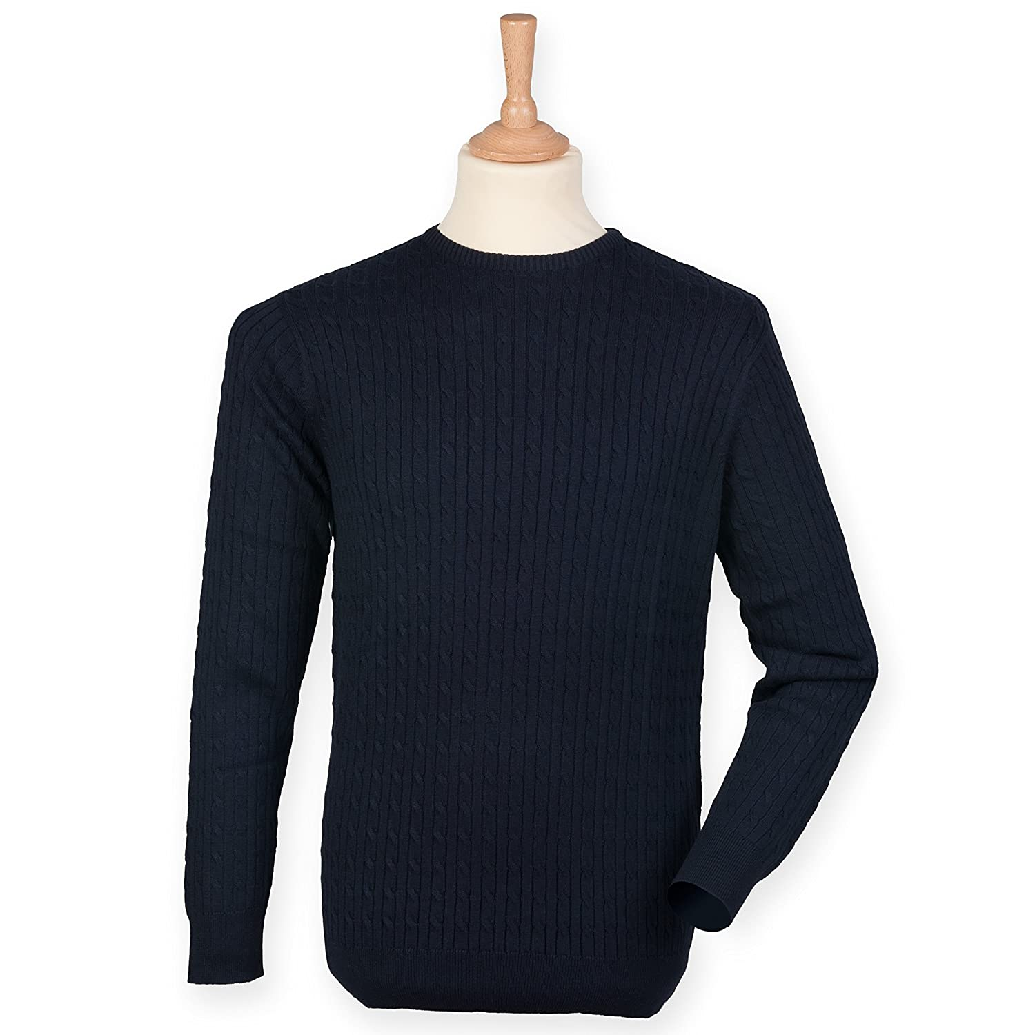 Front Row Men's Cable crew neck jumper