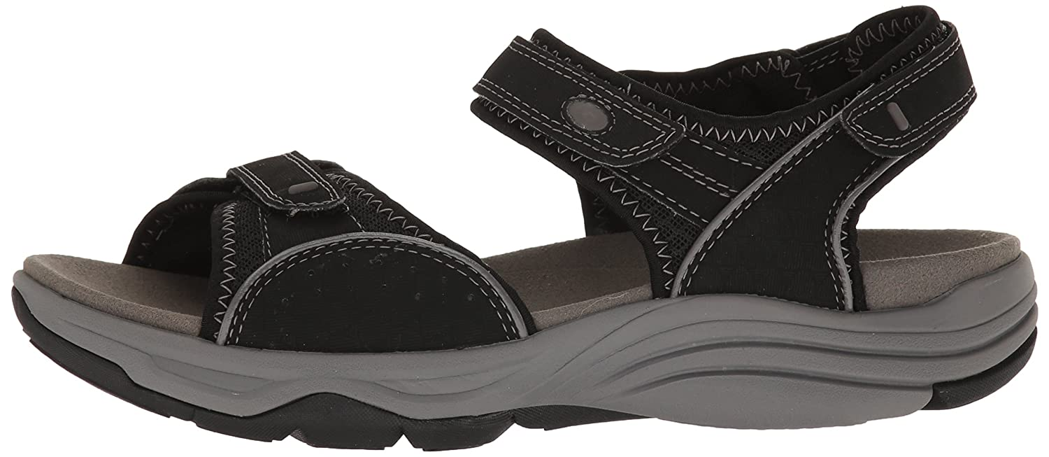 CLARKS Women's Wave - Grip Sandal B01IAN8ROY 8.5 D - Wave Wide|Black Synthetic 0b8cc9