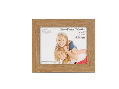 Inov8 British Made Picture/Photo Frame, 5x4 Inch, Lime Oak, Pack of ...