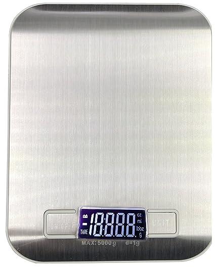 OSVINO - Báscula digital multifuncional para cocina, precisión de 1 g a 5 kg / 11