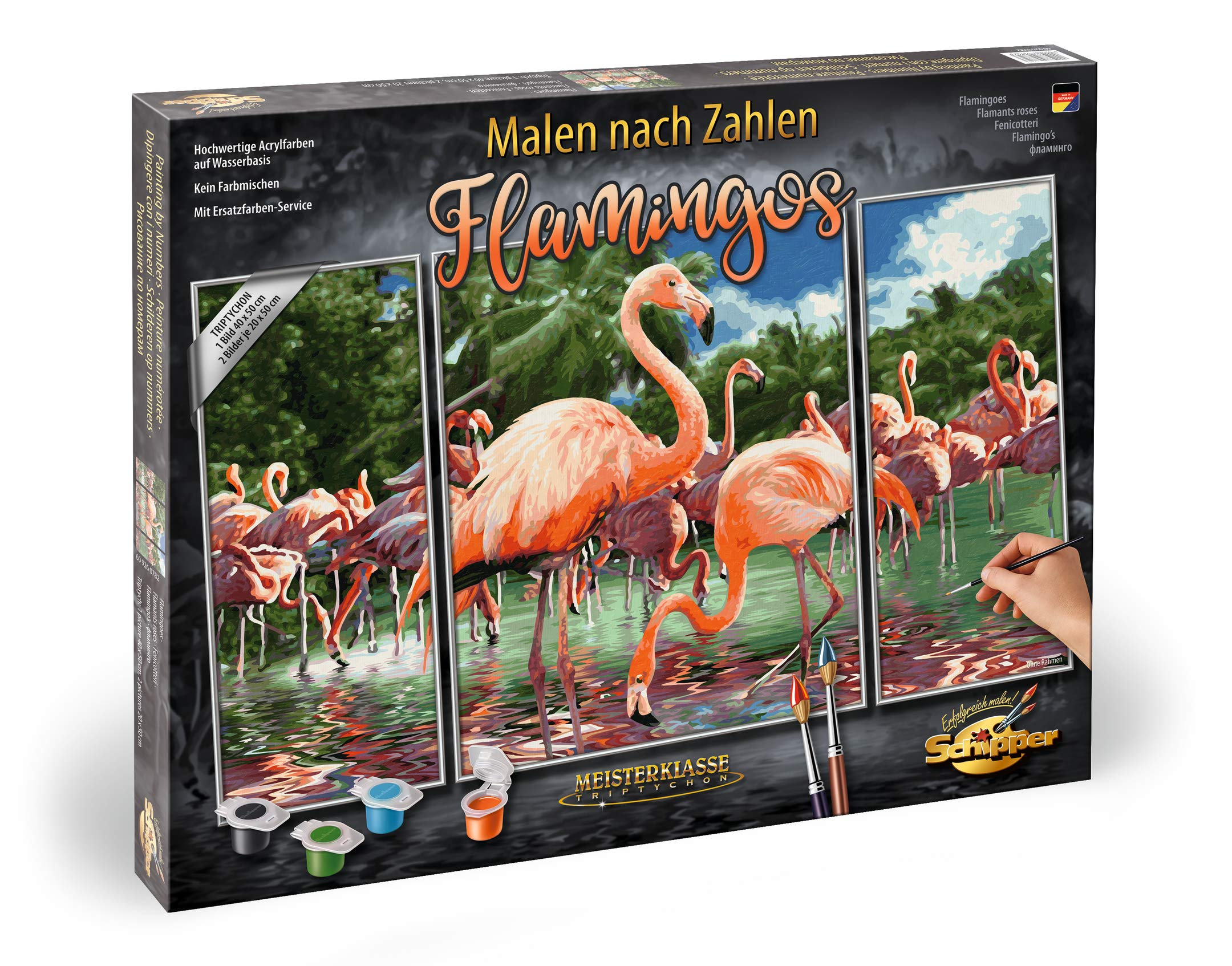 Schipper 609260782'' Flamingoes Painting by Number by Schipper