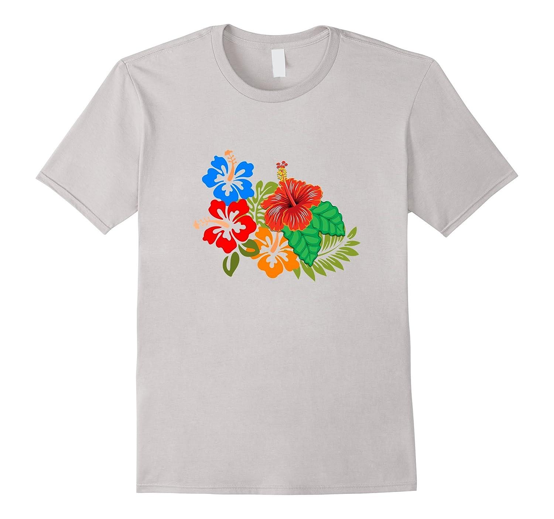 Flower T-shirt | Floral Hawaiian Island Hibiscus Design-CL