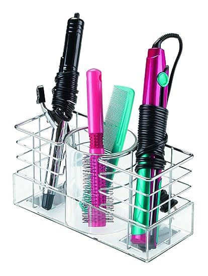 InterDesign Luci Porta spazzole per capelli e accessori per il bagno ...