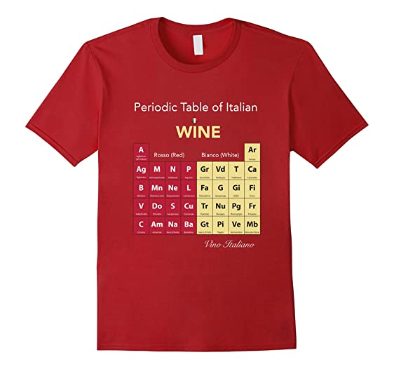 Amazon periodic table of italian wine t shirt clothing mens periodic table of italian wine t shirt 3xl cranberry urtaz Gallery
