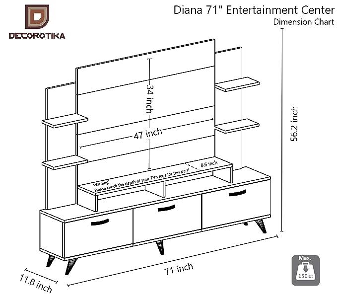 Amazon.com: Decorotika Diana TV Stand and Entertainment ...