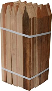 Bond Manufacturing 442 18-Inch, 50-Pack Garden Stakes, Redwood