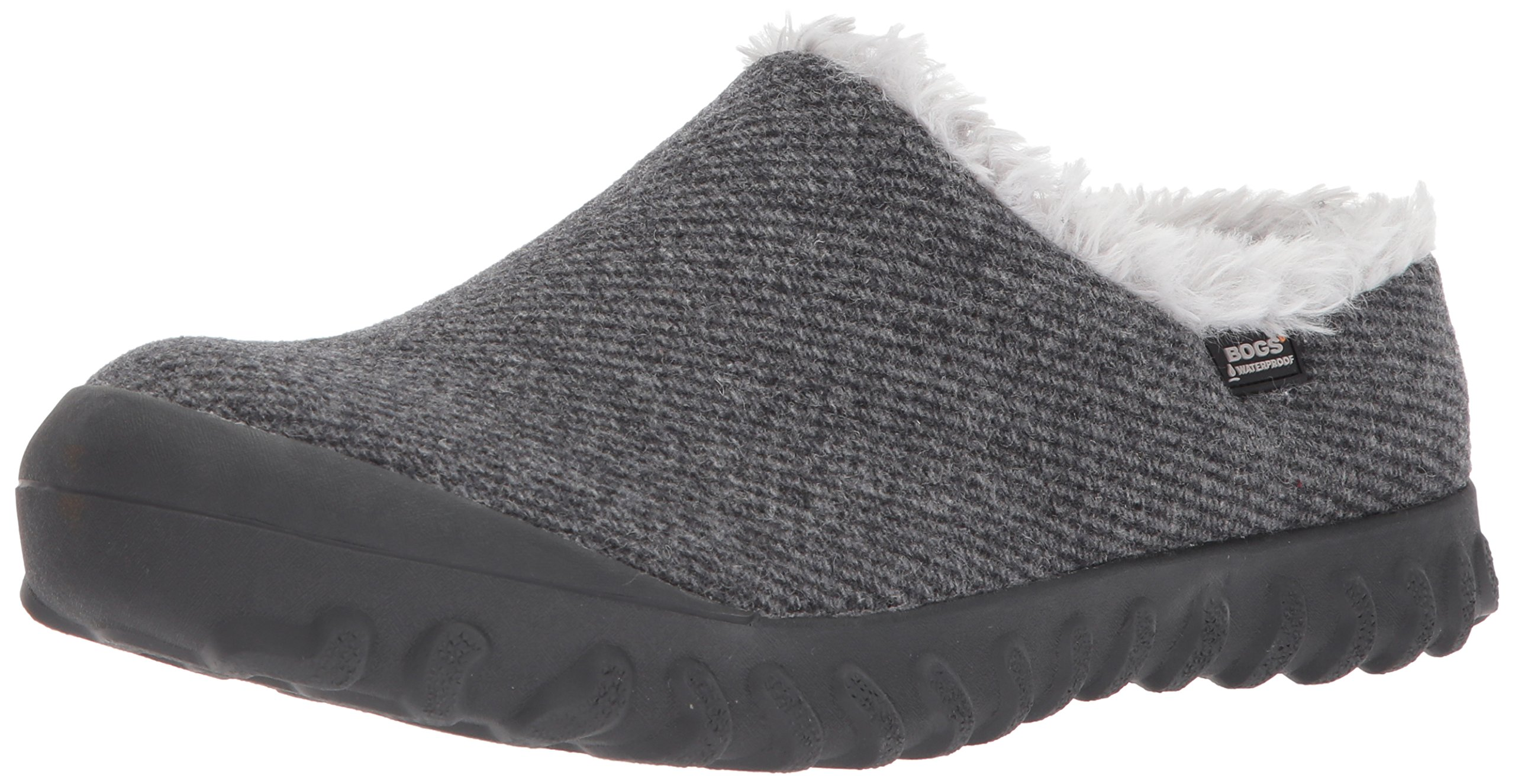 Bogs Women's Bmoc Slip on Wool Snow Boot, Charcoal, 11 M US