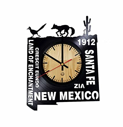 Amazon.com: New Mexico Record Wall Clock - Get unique of ...