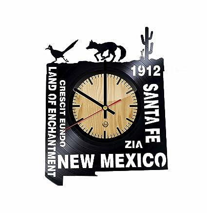 Amazon.com: New Mexico Record Wall Clock - Get unique of living room ...