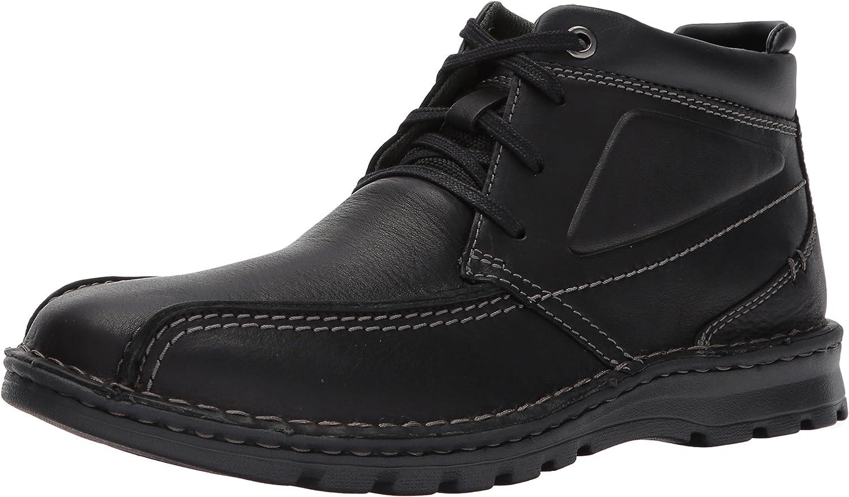 Clarks Men/'s Vanek Rise Oxford Black Oily Leather Ankle Boots 26128417