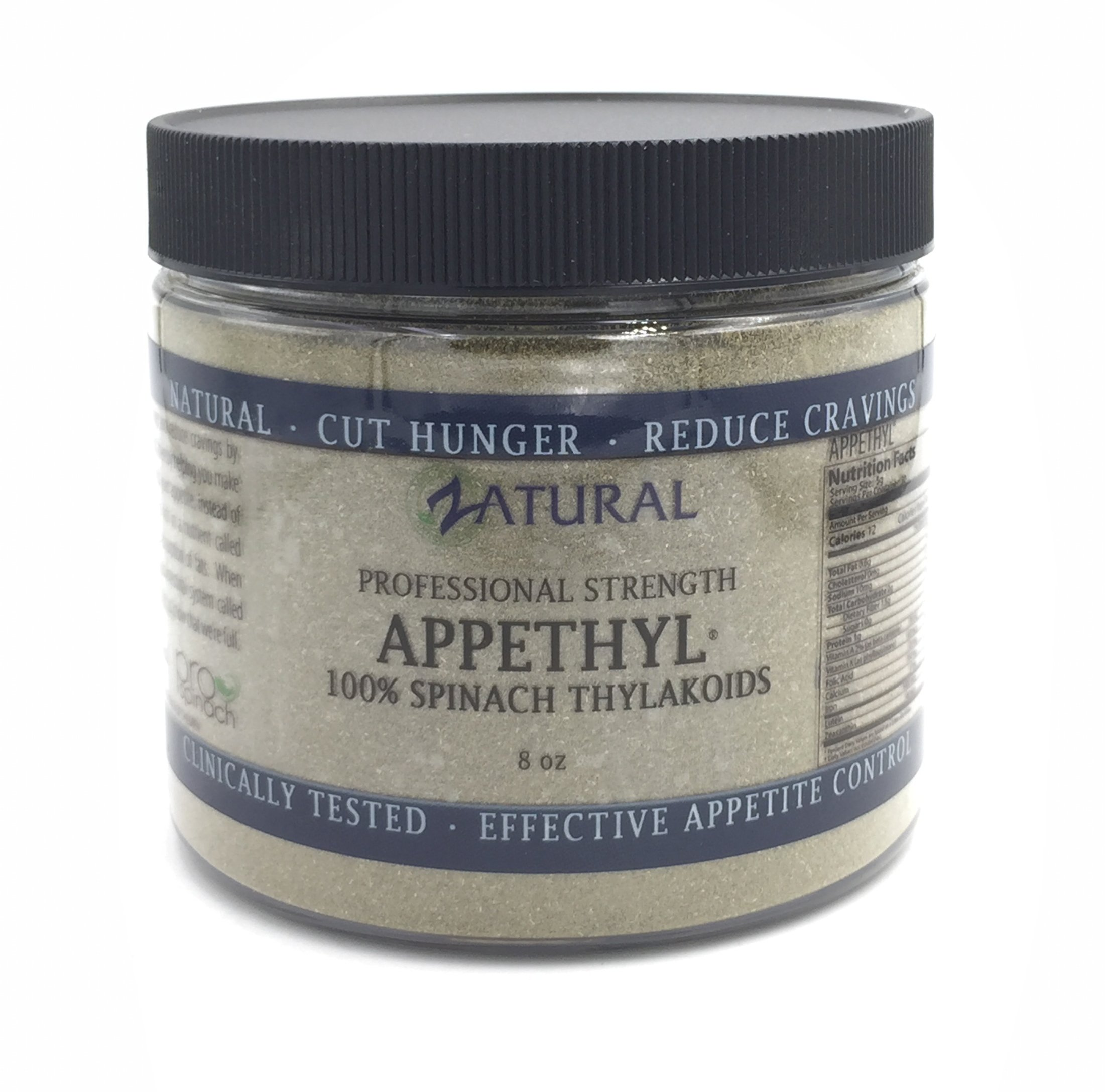 Appethyl Energy Powder, Pure Spinach Extract - Reduced Cravings, Healthy Dose of Green - 150gram