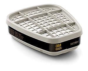 3M 6005 Formaldehyde/Organic Vapor Respiratory Protection Cartridge (Pack of 2)