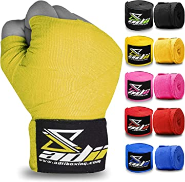 "Boxing Hand Wraps Inner gloves 120/"" Pro Kick Box MMA Muay Thai Bandage New Pair"