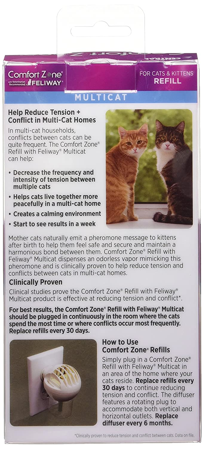 comfort zone urine with feliway new marking coupon comforter pack diffuser and scratching refills prevent spray refill