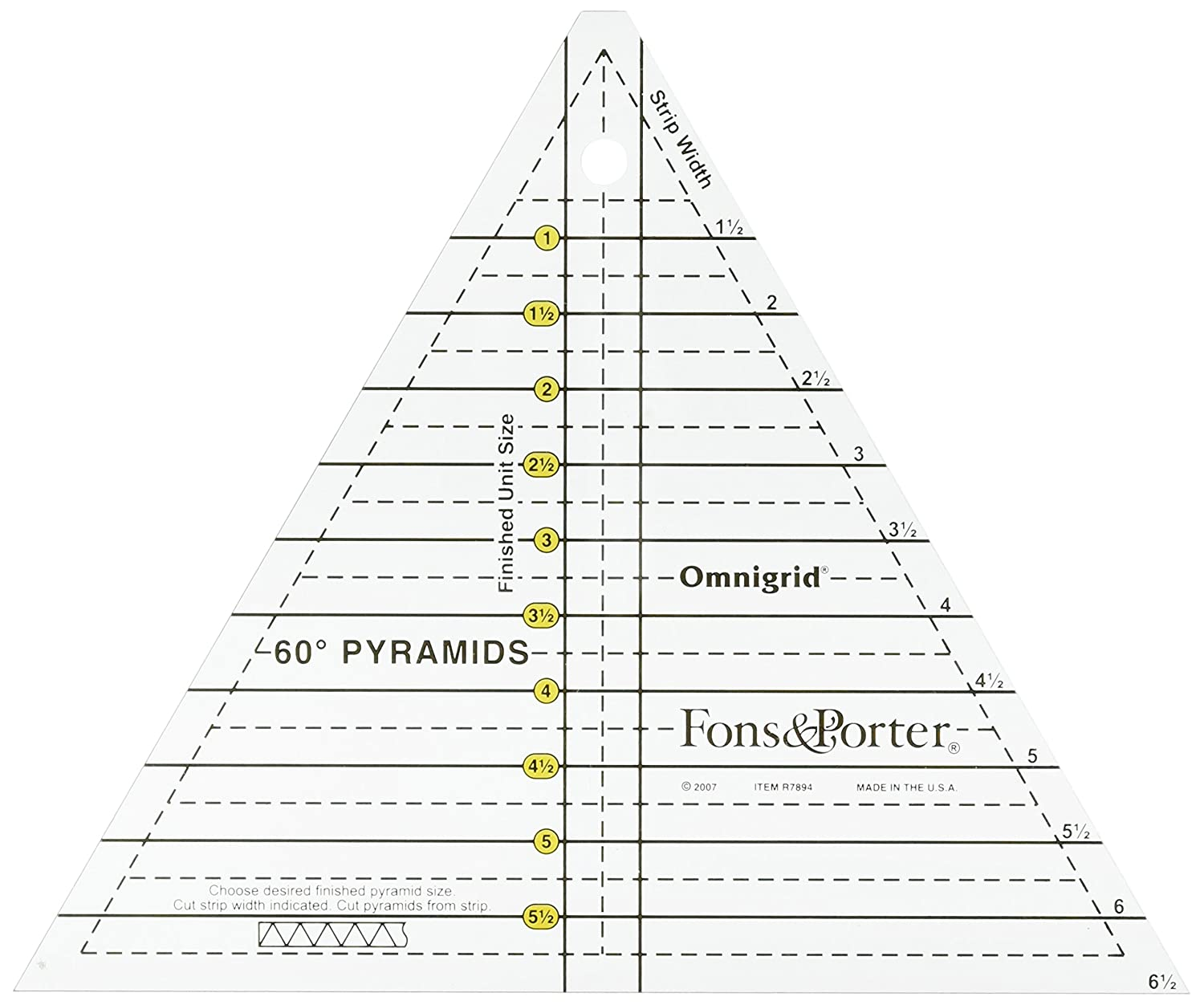 Dritz R7894 Fons and Porter Pyramid Ruler