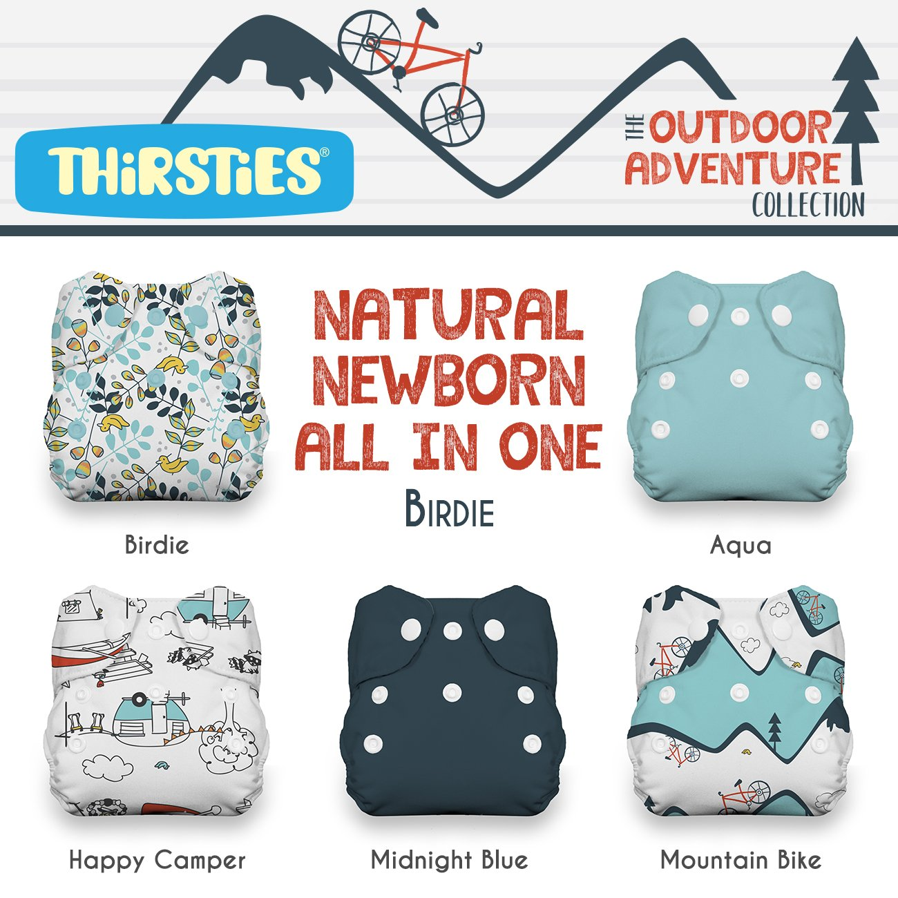Package - Snap Natural Newborn All In One - Outdoor Adventure Collection Birdie