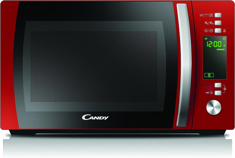 Candy CMXG20DR Microondas con Grill y Cook In App, Capacidad 20L, 40 Programas Automáticos, Plato giratorio 24,5cm, 700 W, 20 litros, Rojo