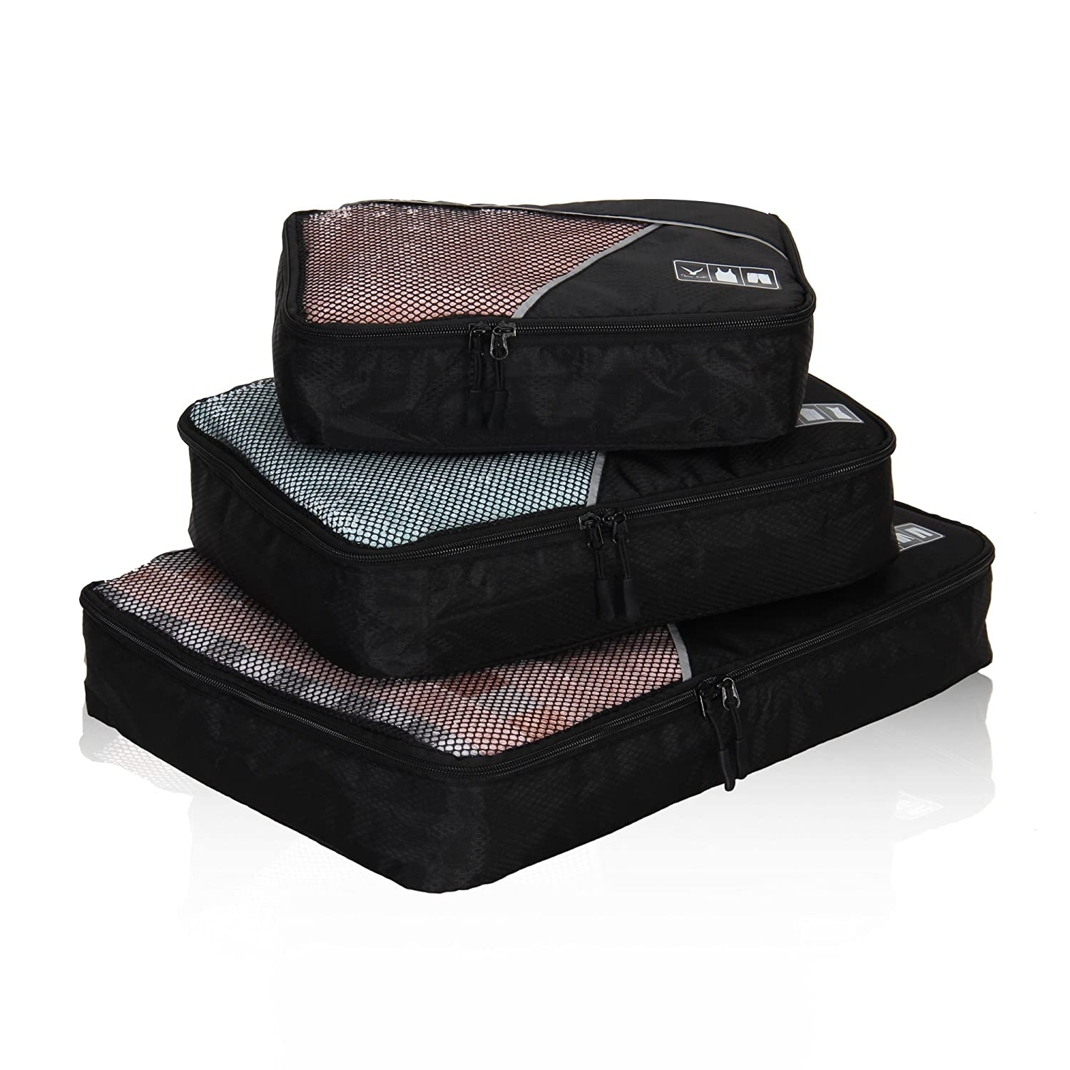 Hynes Eagle Travel Packing Cubes 3 Pieces Value Set, Grey HE0512-12
