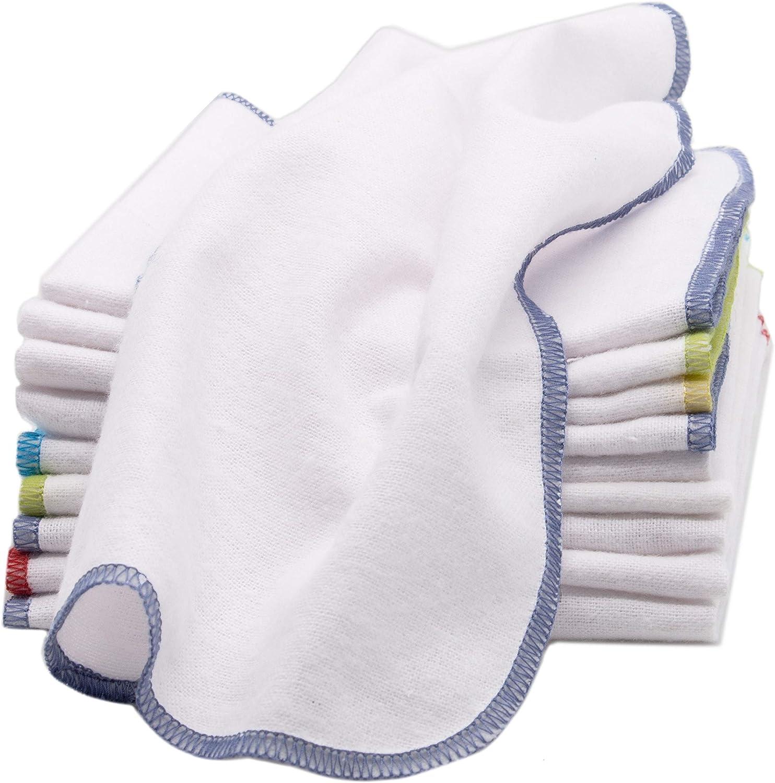algod/ón 100/% Zollner 10 toallitas faciales infantiles 25x25 cm franela