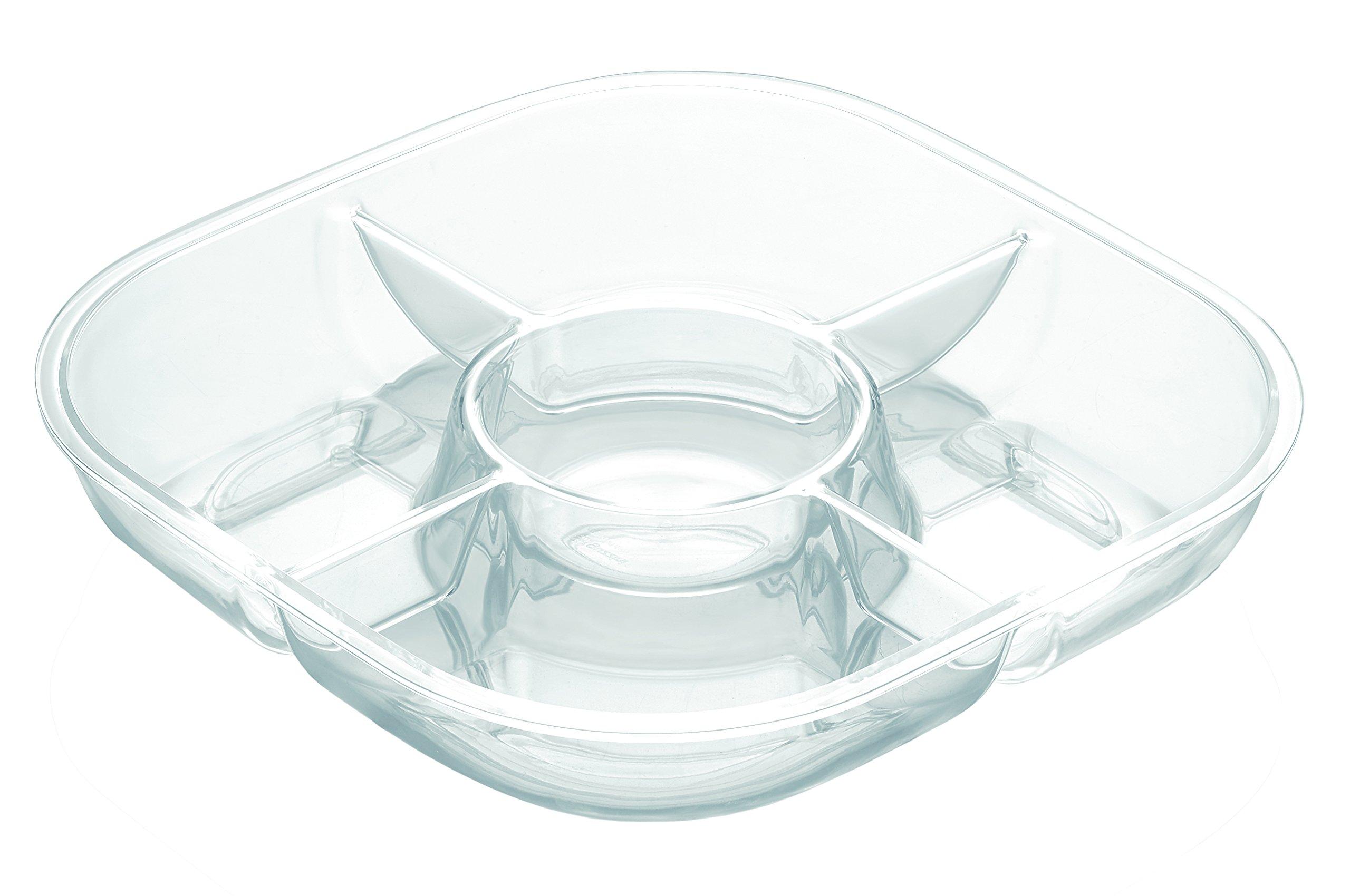 Guzzini Happy Hour Square Chip-n-Dip Dish