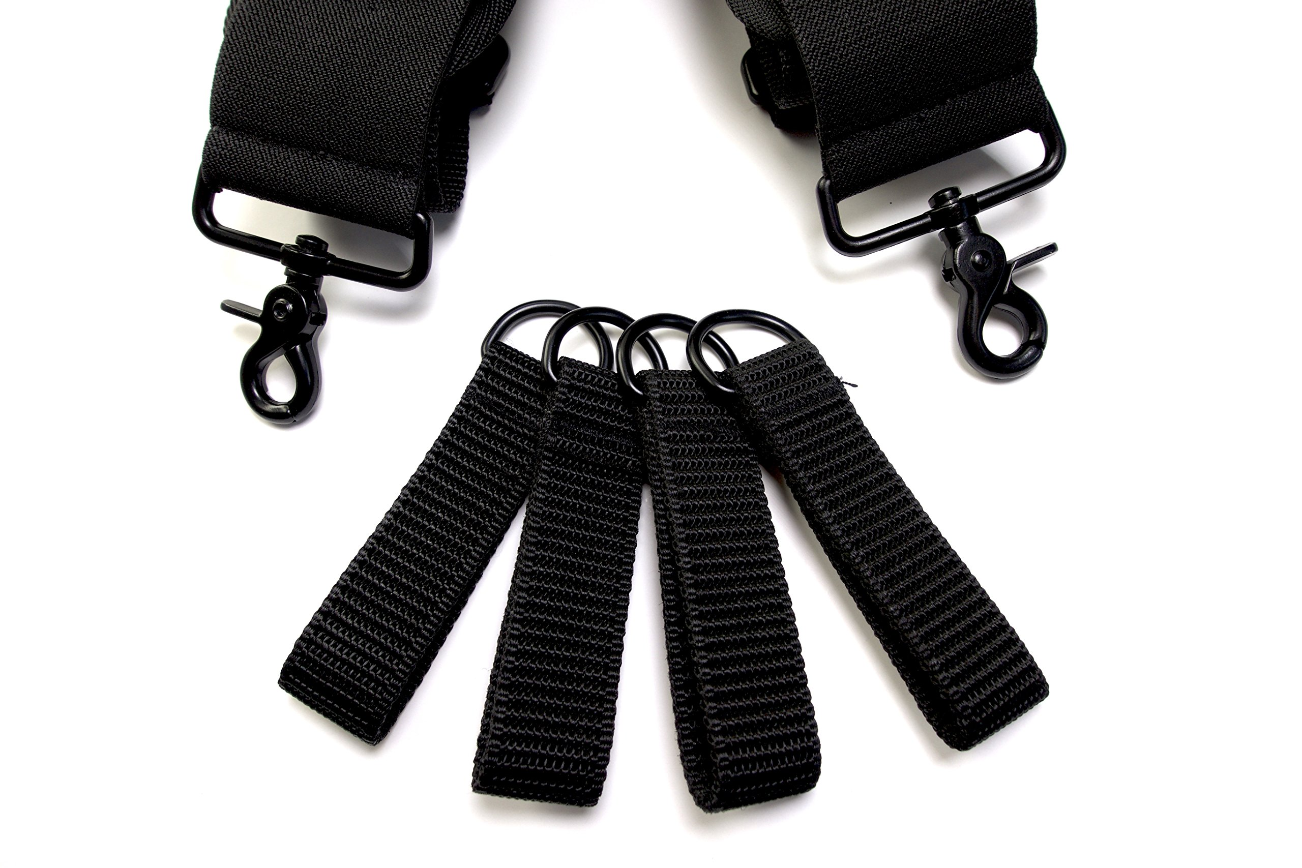 Tool Belt Suspenders- Heavy Duty Work Suspenders for Men, Adjustable, Comfortable and Padded -Includes- Tool Belt Loops and Strong Trigger Snap Clips by ToolsGold by ToolsGold (Image #8)