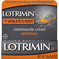 Lotrimin AF Cream for Athlete's Foot, Clotrimazole 1% Antifungal Treatment, Clinically...