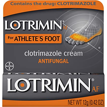 Lotrimin AF Cream for Athlete's Foot, Clotrimazole 1% Antifungal Treatment,  Clinically Proven Effective Antifungal Treatment of Most AF, Jock Itch and