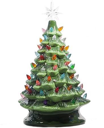 Amazon.com: Árbol de Navidad de cerámica con ...