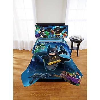 5 piece full size lego batman bedding set includes 4pc full sheet set and t full. Black Bedroom Furniture Sets. Home Design Ideas