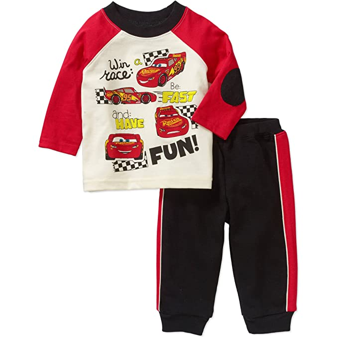 d1e000c9ac242 Amazon.com: Disney Baby Boys Cars McQueen Pant and Shirt Outfit Set ...
