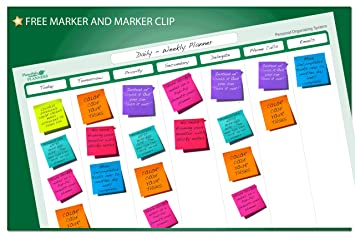 Amazon.com : 7-Column Sticky-Note Planning Kit 19 in. x 24 in ...