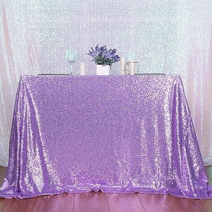 PartyDelight Sequin Tablecloth, Wedding, Sweetheart, Christmas Tree,  Rectangular, 48u0026quot;x72u0026quot
