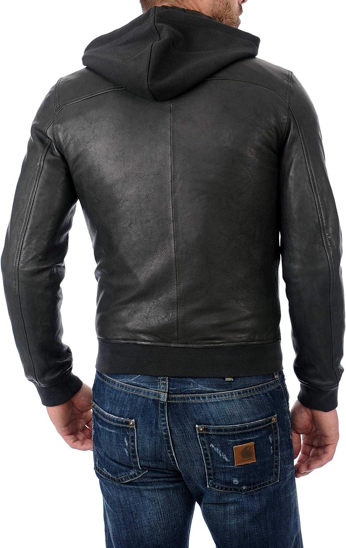 Ayesha Mens Leather Jackets Motorcycle Bomber Biker Genuine Lambskin 340