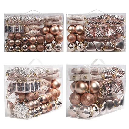 Amazon Com Dansen 72ct Christmas Balls Assorted Shatterproof