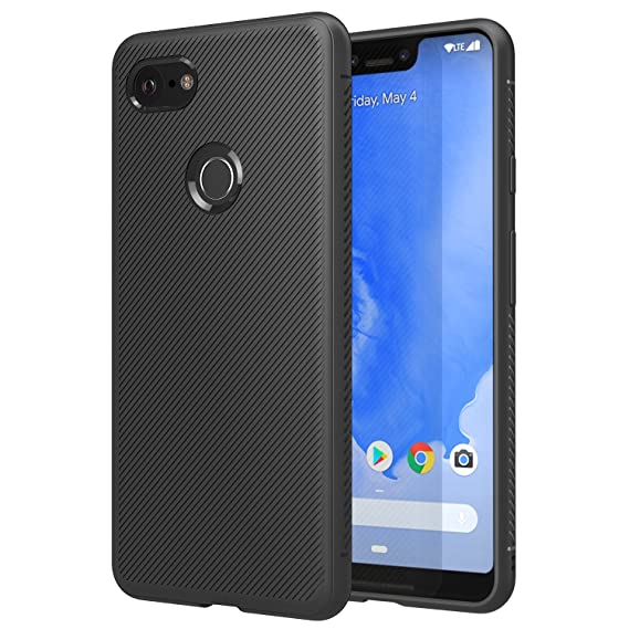 super popular 79a7b 4f233 MoKo Cover Compatible for Google Pixel 3 XL Case, Lightweight Shockproof  Protective Phone Cover, TPU Bumper Edge Twill Phone Case for Google Pixel  3XL ...