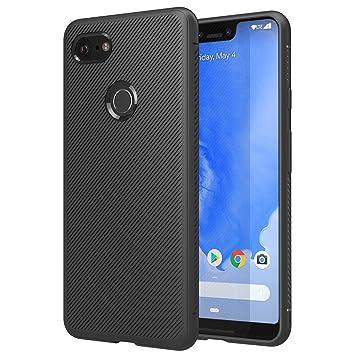 MoKo - Carcasa para Google Pixel 3 XL, Ligera, a Prueba de Golpes, Borde de TPU para Google Pixel 3XL, Color Negro
