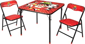 Idea Nuova WK980761Ryan's World Kids 3 Piece Folding Table and Chair Set, Ages 3+