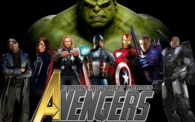 Posterhouzz The Avengers Hulk Nick Fury Black Widow Natasha