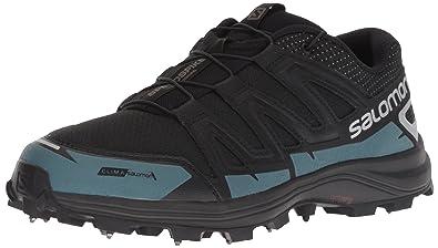 a12344ea99f6 Salomon SPEEDSPIKE CS Trail Running Shoe Black Reflective Silver Mallard  Blue 5 D US