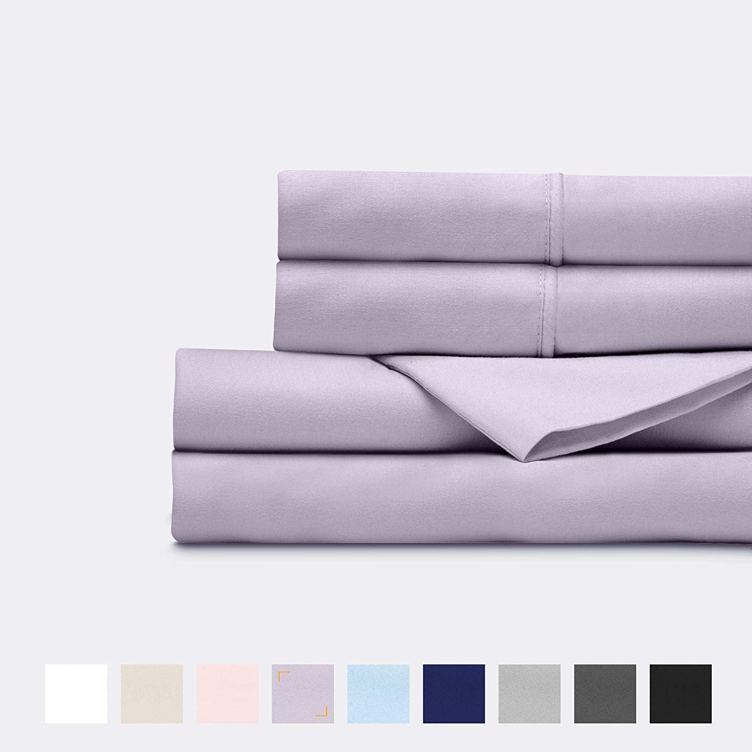 Everspread Bed Sheets (4 Piece Sheet Set), Queen Size, Lavender. Ultra-Soft & Breathable. Luxury Bedding. Deep Pockets - Fits Mattresses up to 16 inches. Hypoallergenic & Wrinkle Resistant: Home & Kitchen