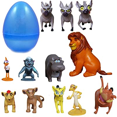 "PARK AVE 12 Lion Guard Figures with Jumbo Egg Storage, 1-2"" Tall Mini King Figure Toys for Kids Deluxe Cupcake Cake Toppers Party Favor Decoration: Toys & Games"